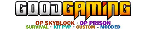 Good Gaming Pc For Minecraft Homeminecraft - mc good gaming com 1 10 survival op prison op skyblock factions events pc