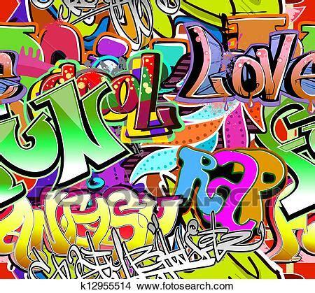 graffiti wall urban art vector background seamless hip