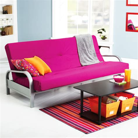 mainstays metal arm futon with mattress pink futon mattress roselawnlutheran