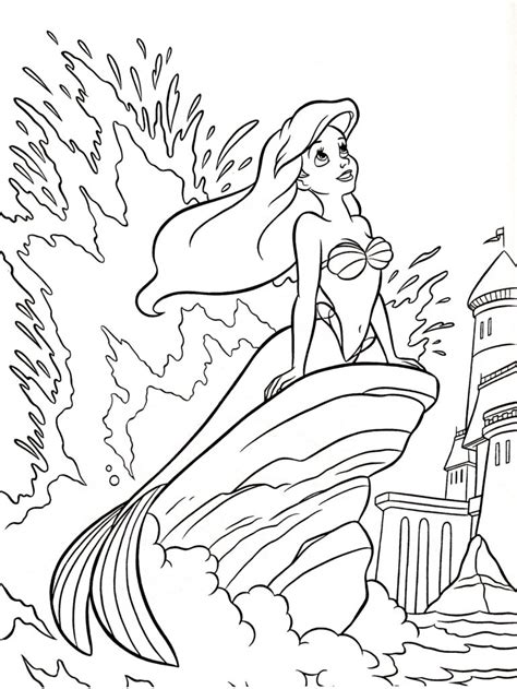 disney coloring pages uk little mermaid free colouring pages