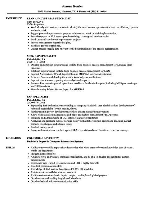 Mba Resumes Sles For Hr by Basis Format Resume Sap Photo Model