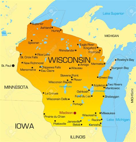 wisconsin on us map us map milwaukee world maps