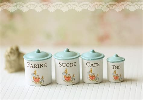 miniature accessories for doll houses dollhouse miniature kitchen accessories kitchen canisters in 112 scale