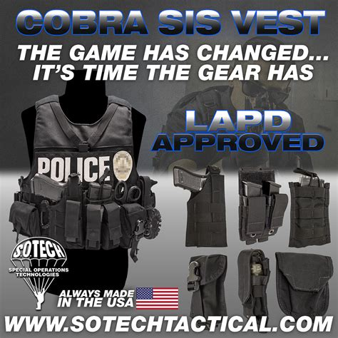 lapd special investigation section s o tech cobra sis armor carrier soldier systems daily