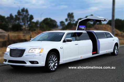 chrysler car white white wedding limo perth limousines perth wedding