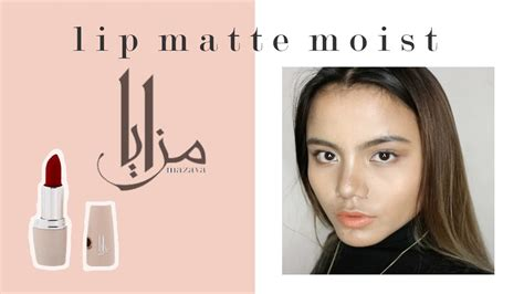 Mazaya Lip Matte Moist mazaya lip matte moist swatches indonesia local brand