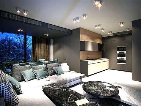 modern urban home design  andrey dmitriev interiorzine