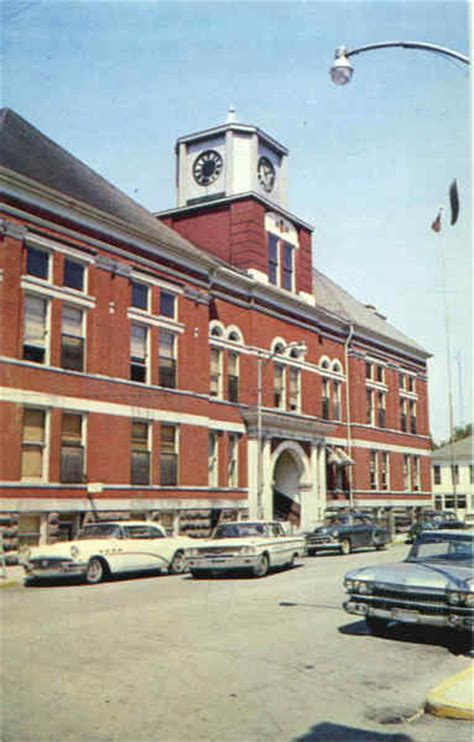 Logansport Post Office by Cass County Court House Logansport In