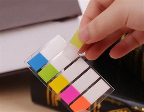 Memo Tempel Sticky Notes Post It Stick It Plester Tensoplast Sno048 aliexpress buy 5packs 500 small pages plastic sticker post it bookmark point it marker