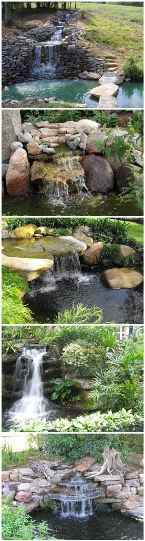 Waterfall Ponds Backyard Best 25 Pond Waterfall Ideas On Pinterest Diy Waterfall