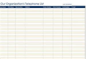 staff phone list template contact list template lisamaurodesign