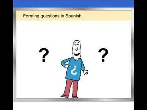 tutorial forming questions in spanish quizlet animated tutorial forming questions in spanish vista