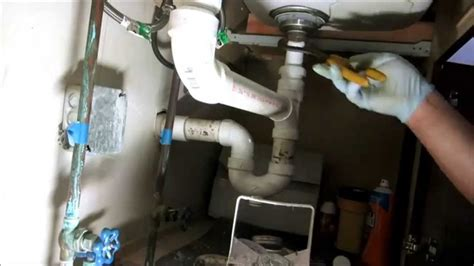 kitchen sink drain pipe replaced:plumbing tips   YouTube