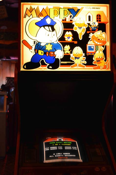 Mappy Arcade Cabinet by Start A New Today At Offworld Arcade 2000