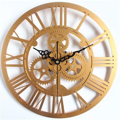 decorative oversized wall clocks handmade oversized 3d wall clock retro rustic large on the