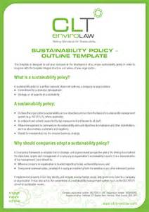 sustainability policy template corporate policy template bestsellerbookdb