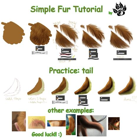 photoshop tutorial simple fur tutorial by gold fang on deviantart digitized