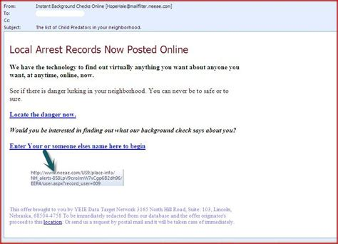How To Find Arrest Records Omniquad Highlights Spam Of The Week Local Arrest Record