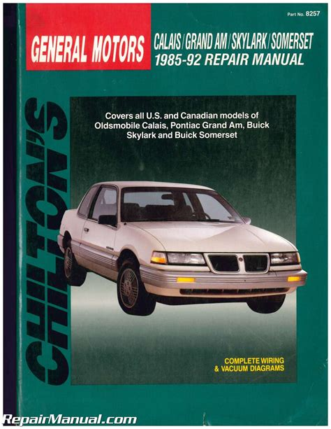 motor repair manual 1985 pontiac grand am security system used chilton gm grand am calais skylark somerset 1985 1992 repair manual