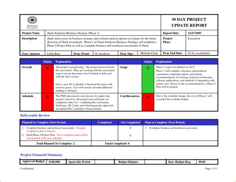 status update report template 6 status update template teknoswitch