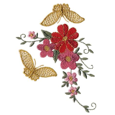 embroidery templates s world floral and butterfly embroidery designs