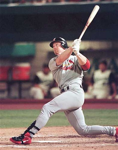 mark mcgwire swing quotes on baseball