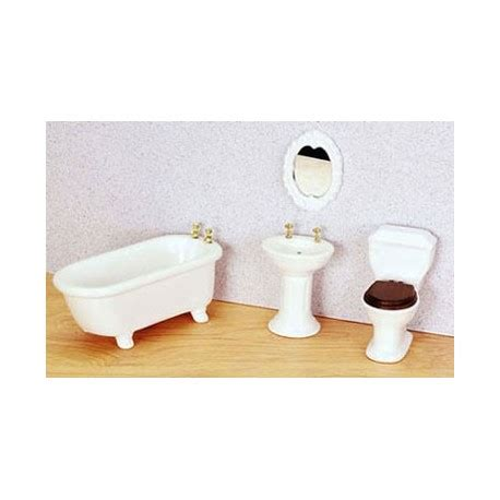 dollhouse bathroom set porcelain bath set 4 pc white dollhouse bathroom sets