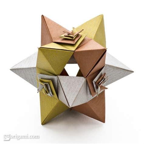 Modular Origami Polyhedra - shaped polyhedron by toshikazu kawasaki go origami