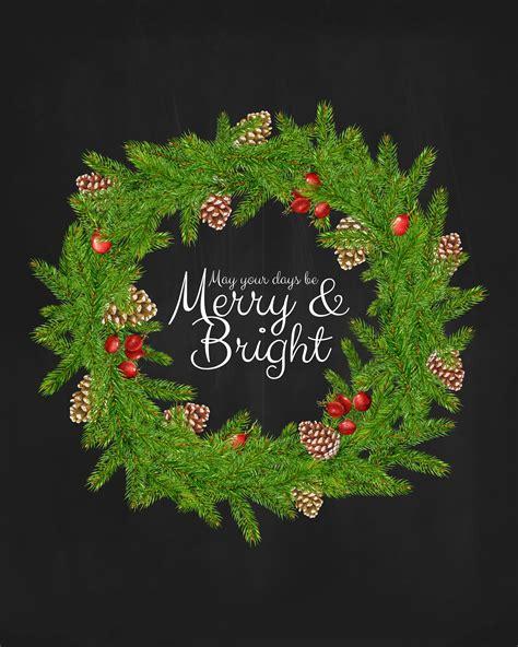 christmas printable   days  merry  bright  print  cottage market