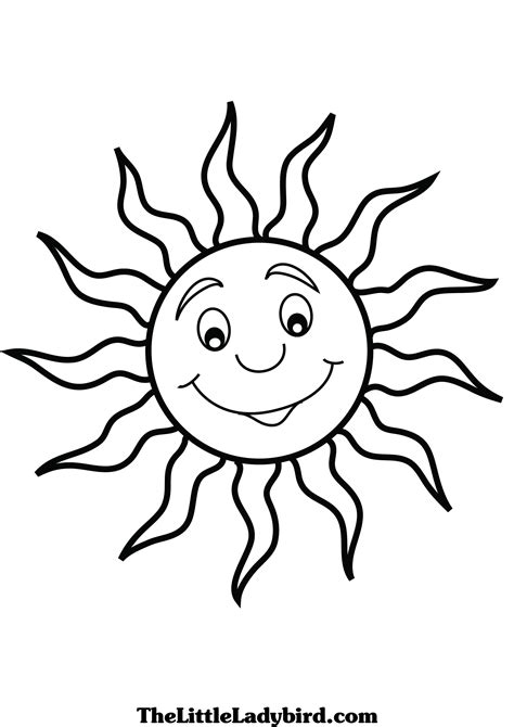 corner sun coloring page free sun coloring page thelittleladybird com