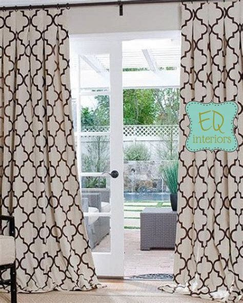 geometric pattern curtain panels custom curtain panels in kravet windsor by elisequinninteriors 332 00 living room