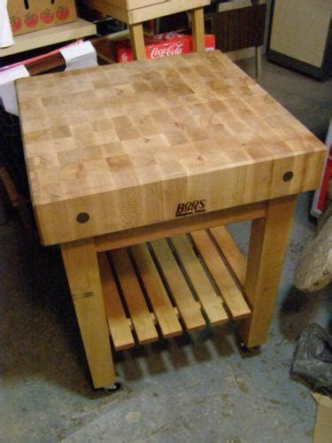 Used Butcher Block Table   eBay