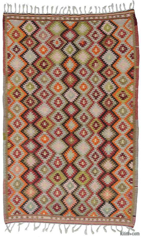 Kalim Rug by K0009719 Multicolor Vintage Antalya Kilim Rug