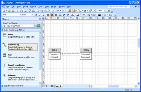 visio 2007 standard crows foot notation in visio 2007 user