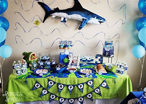 baby shark birthday theme real party shark party renee s soirees
