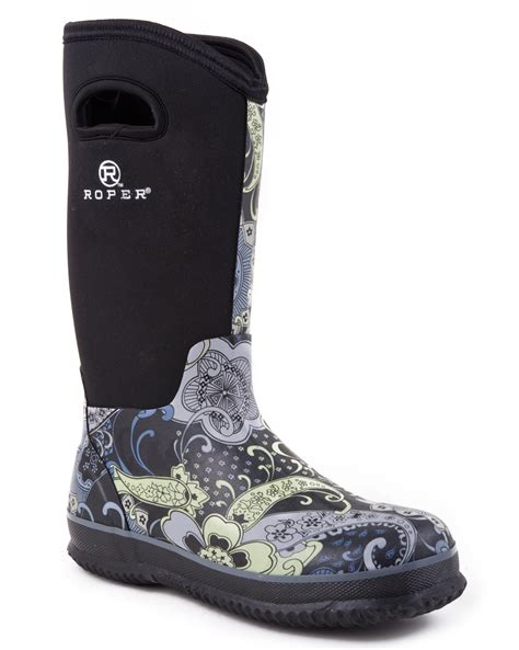 barn boots sale roper womens rugged 12 quot waterproof neoprene barn boots ebay