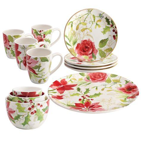 Dinner Set Agatha Flower paula deen porcelain dinnerware 12 complete tabletop dinnerware set