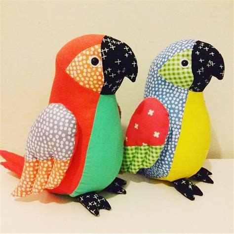 pattern sewing toys parrots using our flurry fabric by jo carter pattern in