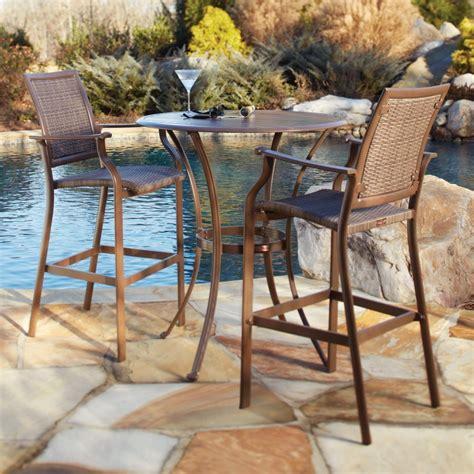 tall outdoor bistro table outdoor bar height table design jbeedesigns outdoor