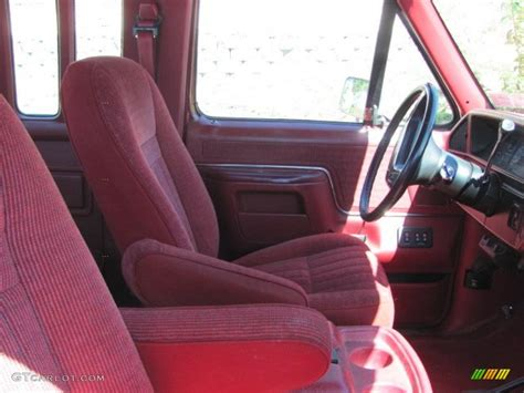 1990 Ford F150 Interior by 1990 Medium Cabernet Ford F150 Xlt Lariat Extended Cab