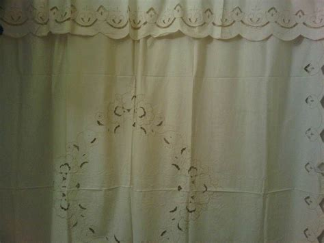 Cutwork Tulips Shower Curtain The Lace And Linens Co