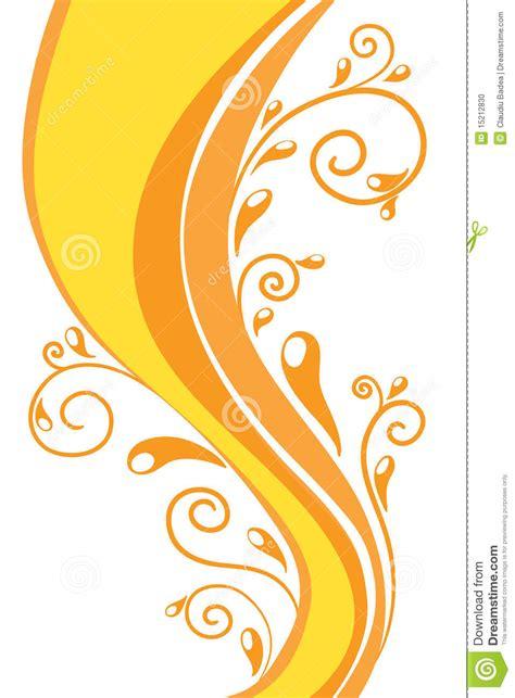 orange swirl background stock vector image  bright