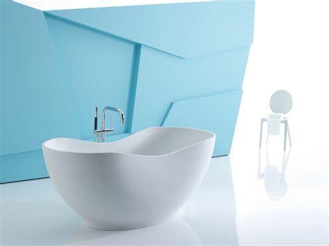 KOHLER K 1800 HW1 Abrazo Freestanding Bath, Honed White