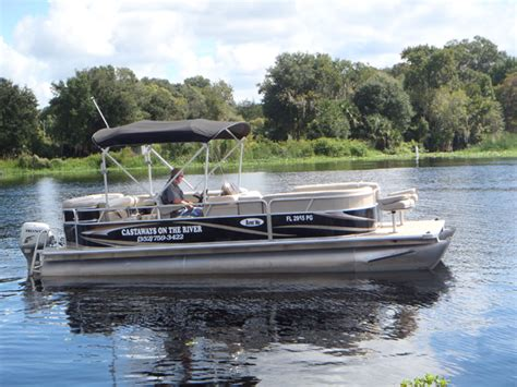 best pontoon boats for rivers boat rentals in astor florida fishing castaways on