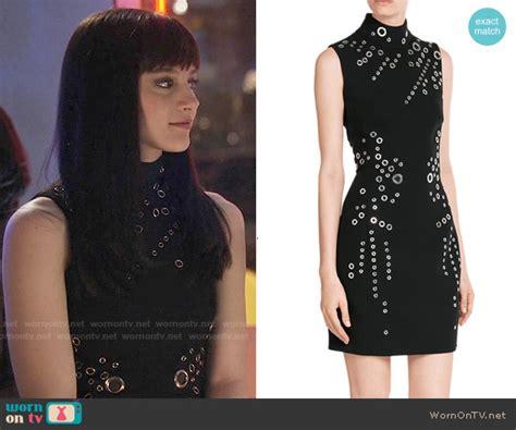 Layla Wardrobe by Wornontv Layla S Black Grommet Studded Dress On Nashville