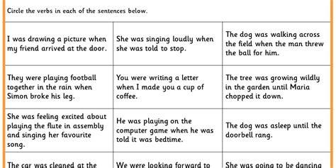 Identifying Verbs Worksheet by Identifying Verbs Ks1 Spag Test Practice Classroom Secrets