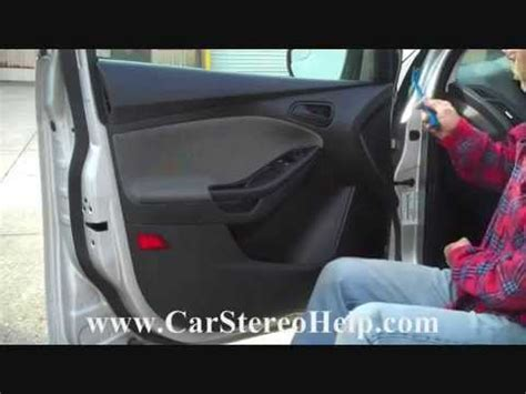 how to ford focus front door speaker speakers removal 2012