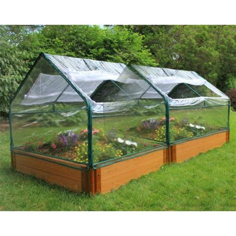 Frame It All Raised Garden Beds Frame It All 4 X 8 X 12 Raised Garden Bed With Greenhouse Top 279 Green House Designs