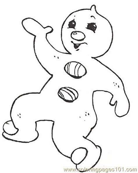 Gingerbread Baby Coloring Pages baby gingerbread coloring pages