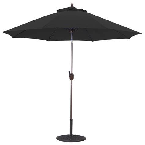 9 patio umbrella with manual tilt and crank lift black transitional outdoor umbrellas by